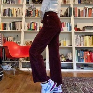 Good American - High Waisted Velour Pant